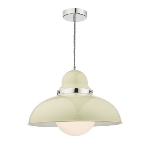 Dynamo 1 Light Pendant Cream (Class 2 Double Insulated) BXDYN8633-17